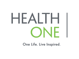NY - HealthOne Logo. One Life. Live Inspired.