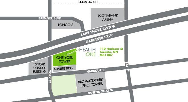 NY - HealthOne Toronto Map